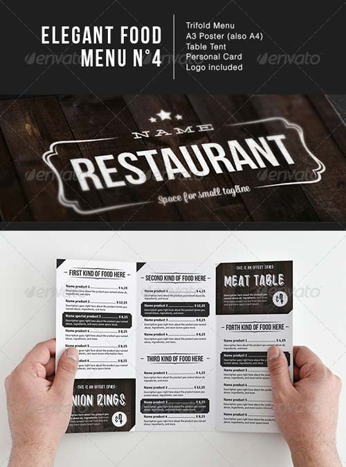 GraphicRiver Elegant Food Menu 4