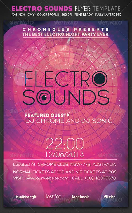 GraphicRiver Electro Sounds Flyer Template