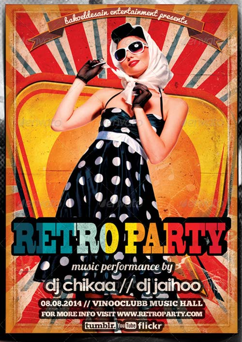 GraphicRiver Retro Minimal Party Flyer