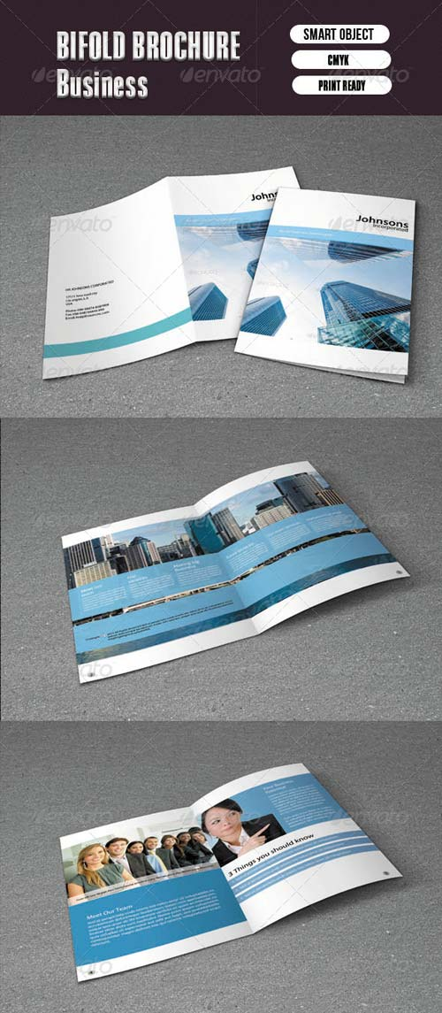 GraphicRiver Bifold Brochure For Business-8 Pages