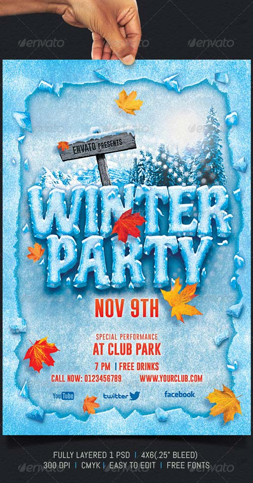 GraphicRiver Winter Party 5937065