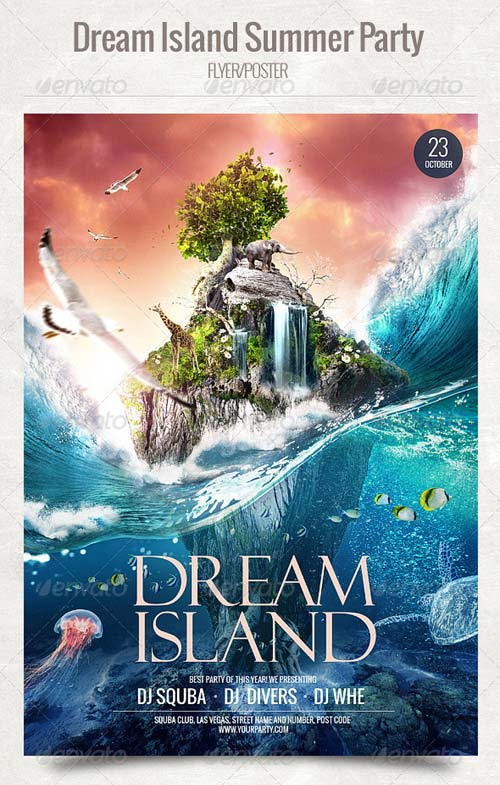 GraphicRiver Dream Island Summer Party Flyer/Poster