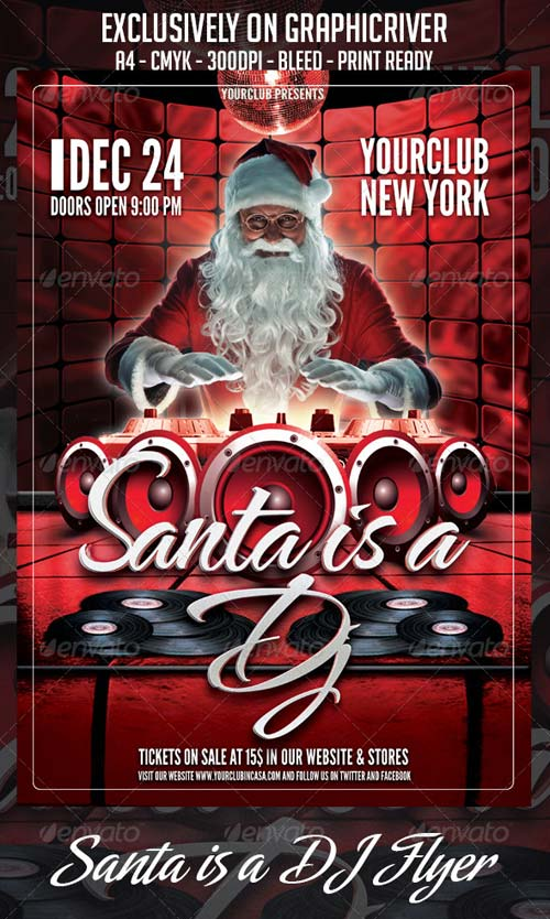 GraphicRiver Santa is a DJ Flyer Template