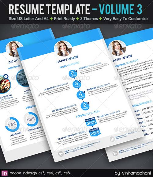 graphicriver resume template volume 3