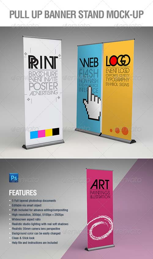 GraphicRiver Pull-Up Banner Stand Mock-Up