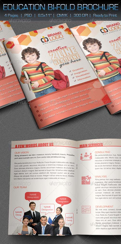 GraphicRiver Creative / Education Bi-Fold Brochure