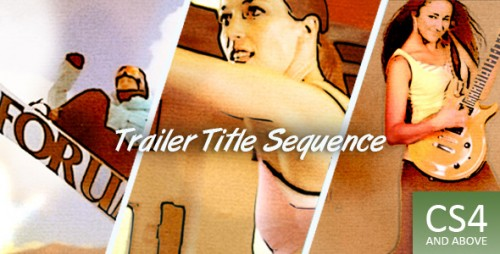 Trailer Title Sequence - After Effects Project (Videohive)