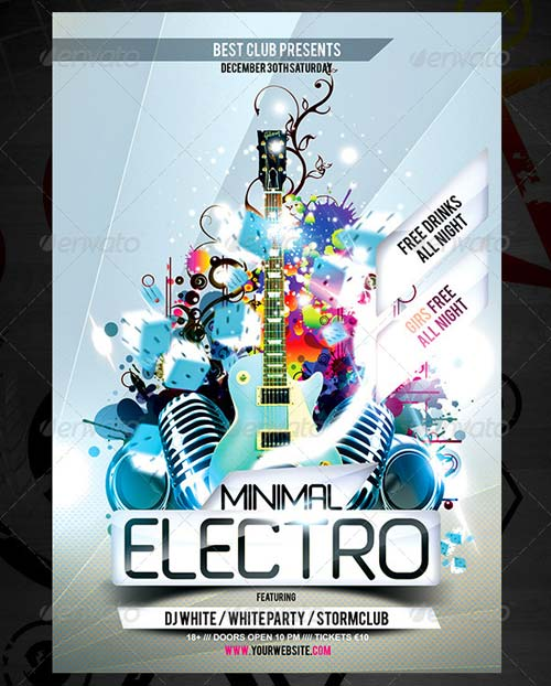 GraphicRiver Minimal Party Flyer Vol.3