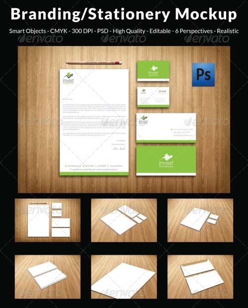 GraphicRiver Clean & Professional Branding/Stationery Mockup