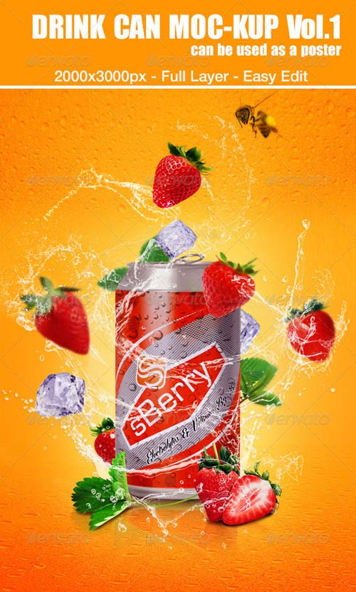 GraphicRiver Drink Can Mockup Vol.1