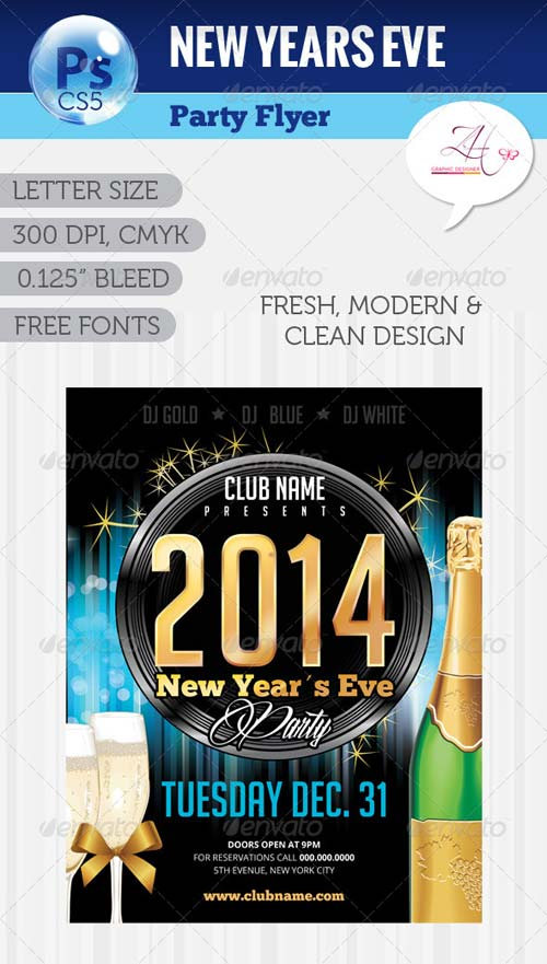 GraphicRiver NYE Party Flyer