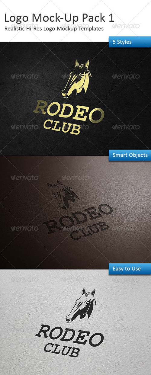 GraphicRiver Logo Mock-Up Pack 1