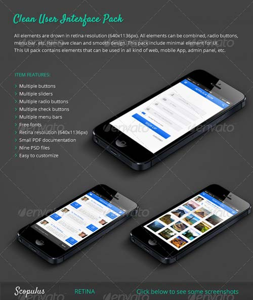 GraphicRiver Clean UI Pack