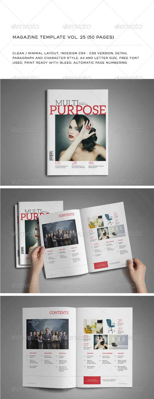 GraphicRiver A4/Letter 50 Pages Mgz (Vol. 25)