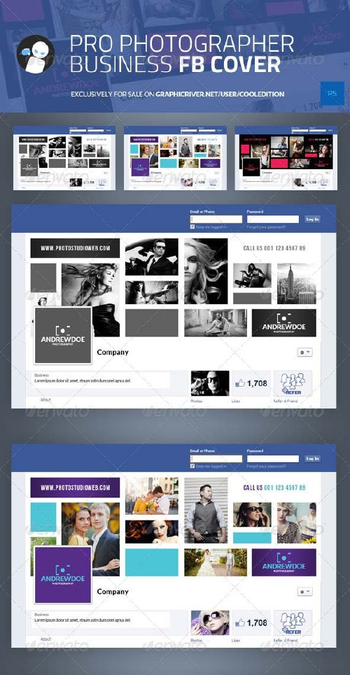GraphicRiver Pro Photographer Business Facebook Cover