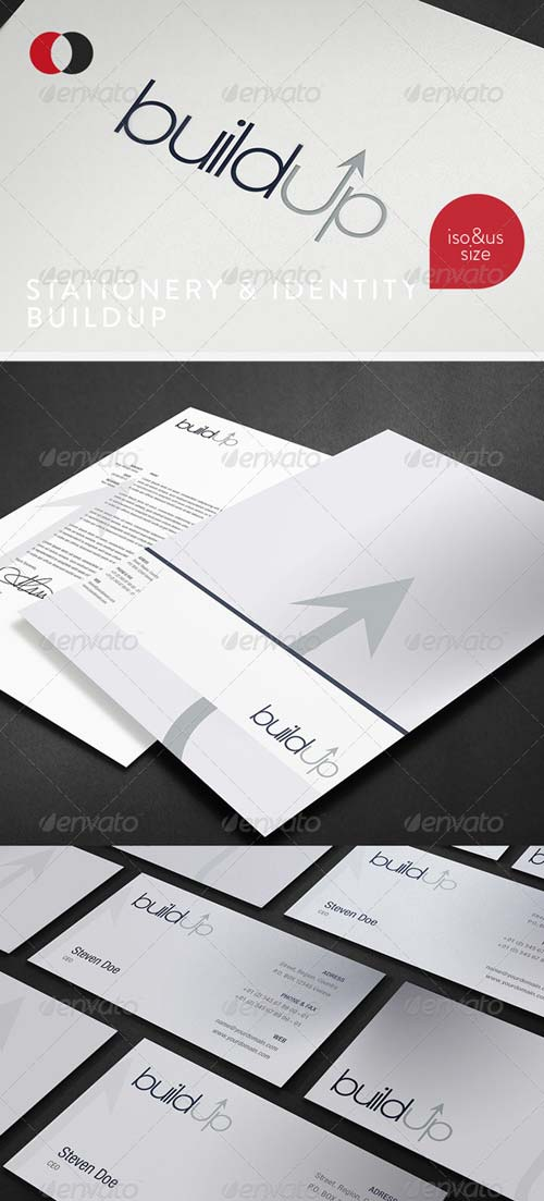 GraphicRiver Stationary & Identity - Build Up
