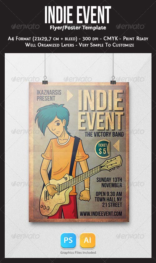GraphicRiver Indie Event Flyer Template