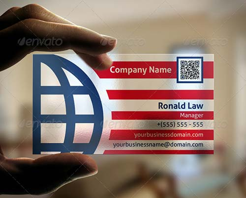 GraphicRiver Transparent Global Business Card