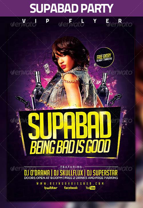 GraphicRiver Supabad Party Flyer