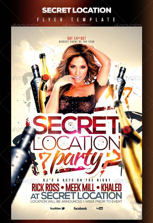 GraphicRiver Secret Location Nightclub/Party Flyer Template