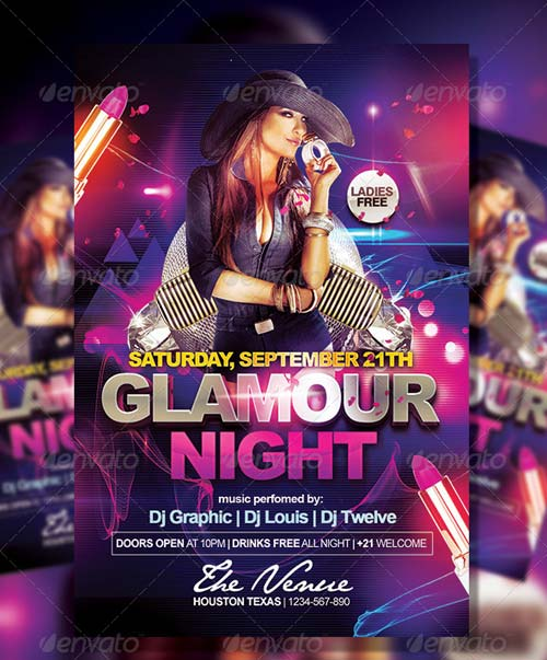 GraphicRiver Glamour Night | Flyer Template