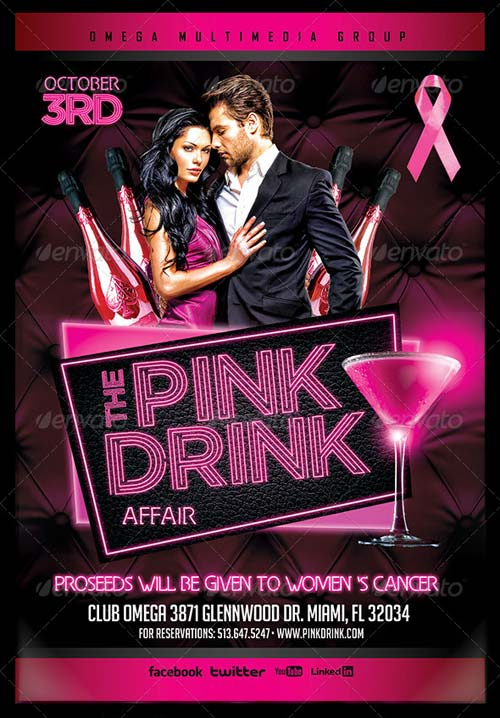 GraphicRiver The Pink Drink
