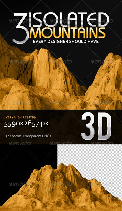 GraphicRiver 3 Isolated Mountains