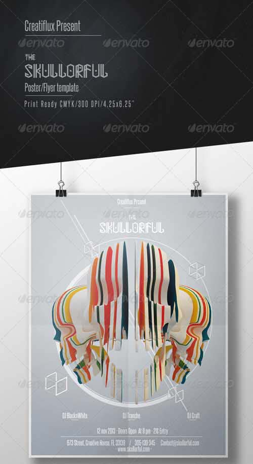 GraphicRiver The Skullorful Creative Poster Template
