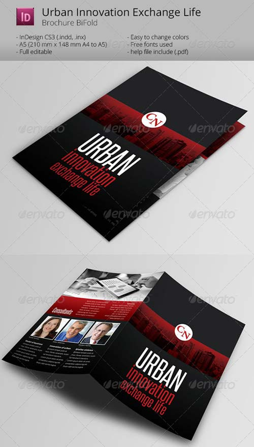 GraphicRiver Urban Innovation exchange life Broshure Template