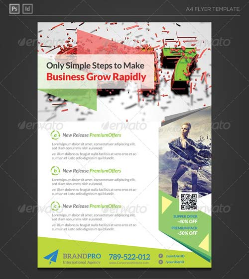 GraphicRiver Fresh Active Multipurpose Corporate Flyer Template