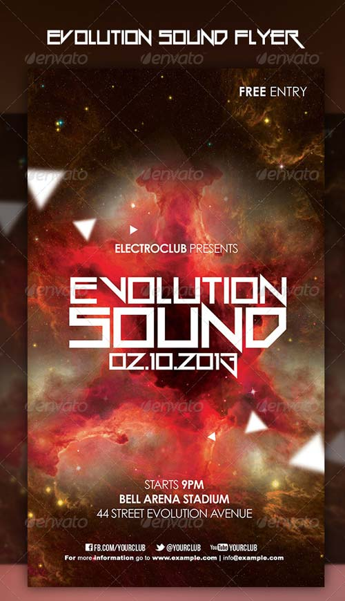 GraphicRiver Evolution Sound Flyer