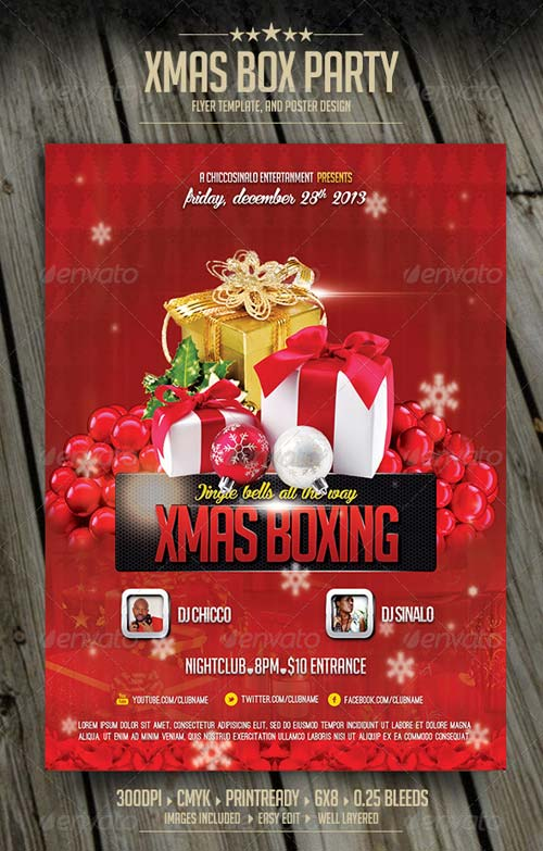 GraphicRiver Christmas Boxing Flyer Template