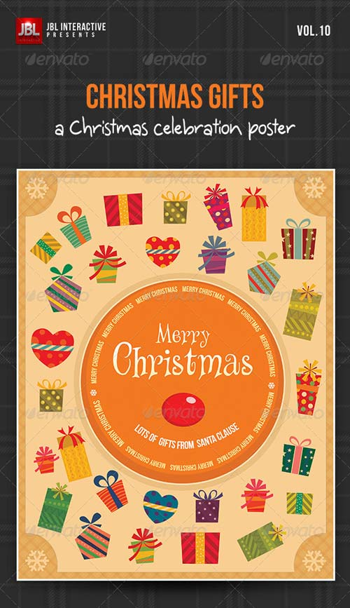 GraphicRiver Christmas Gifts Poster from Santa Claus