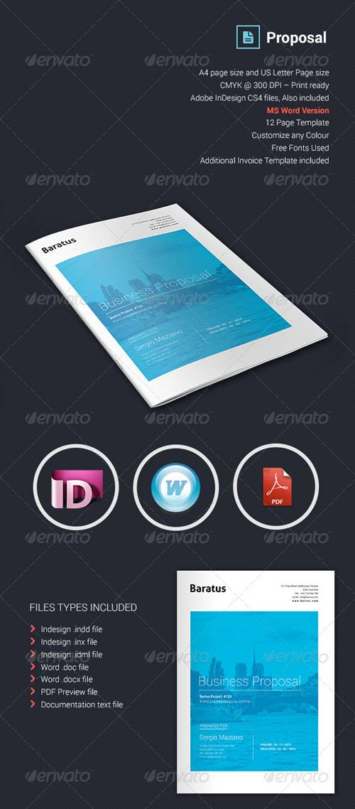 GraphicRiver Baratus - Proposal & Invoice Template