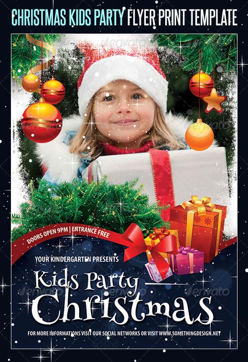GraphicRiver Christmas Kids Party Flyer Print Template