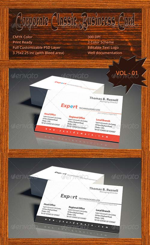 GraphicRiver Corporate Classic Business Card Vol - 01