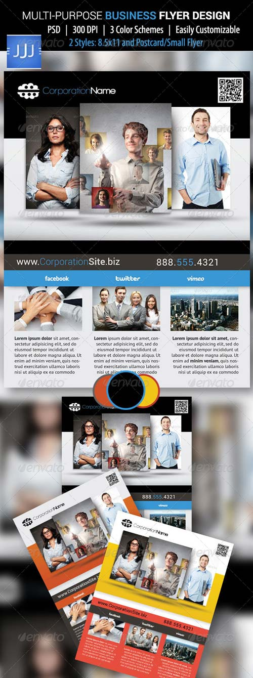 GraphicRiver Multipurpose Business Flyer 15 with Postcard