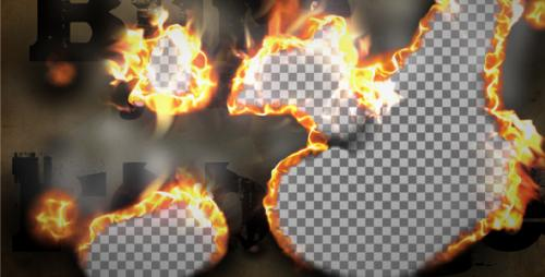 Burn Smoke Transition - After Effects Motion Graphics (Videohive)