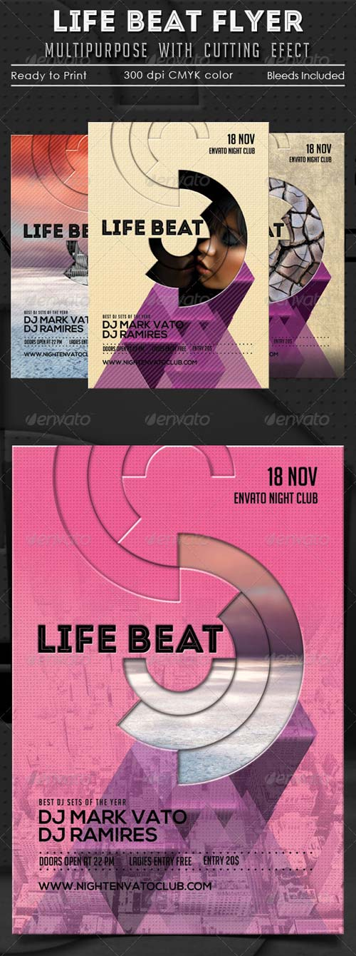 GraphicRiver Life Beat Multipurpose Flyer