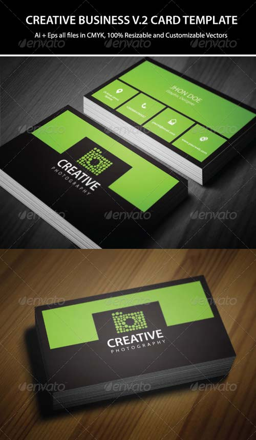 GraphicRiver 2 Colors Creative Business Card Template