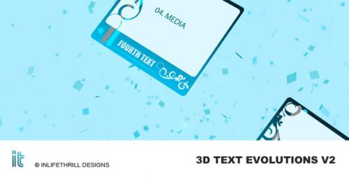3D-Text Evolutions V2 - After Effects Project (Videohive)