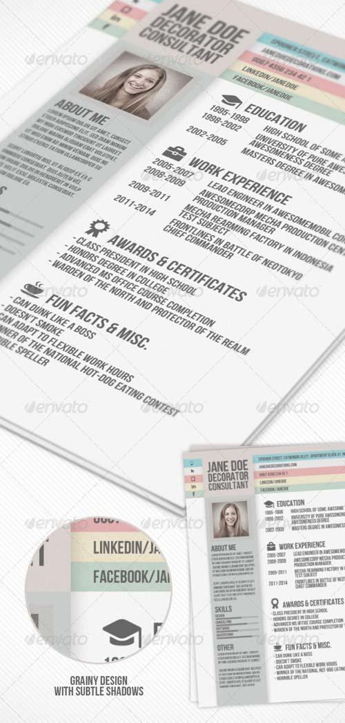 GraphicRiver Creative Resume 5919532