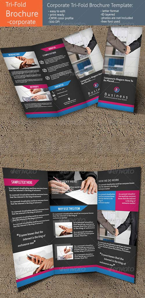 GraphicRiver Corporate Tri-Fold Brochure Template