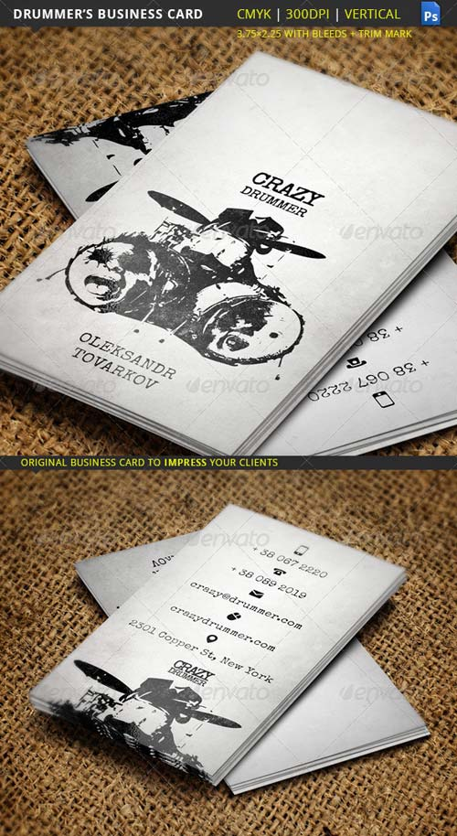 GraphicRiver Drummer's Business Card