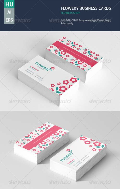 GraphicRiver Flowery Business Cards