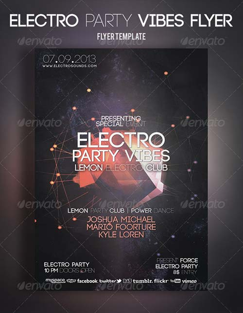 GraphicRiver Electro Party Vibes Flyer