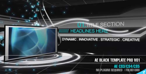 AE CS3 - Black Template Pro V01 - After Effects Project (Videohive)