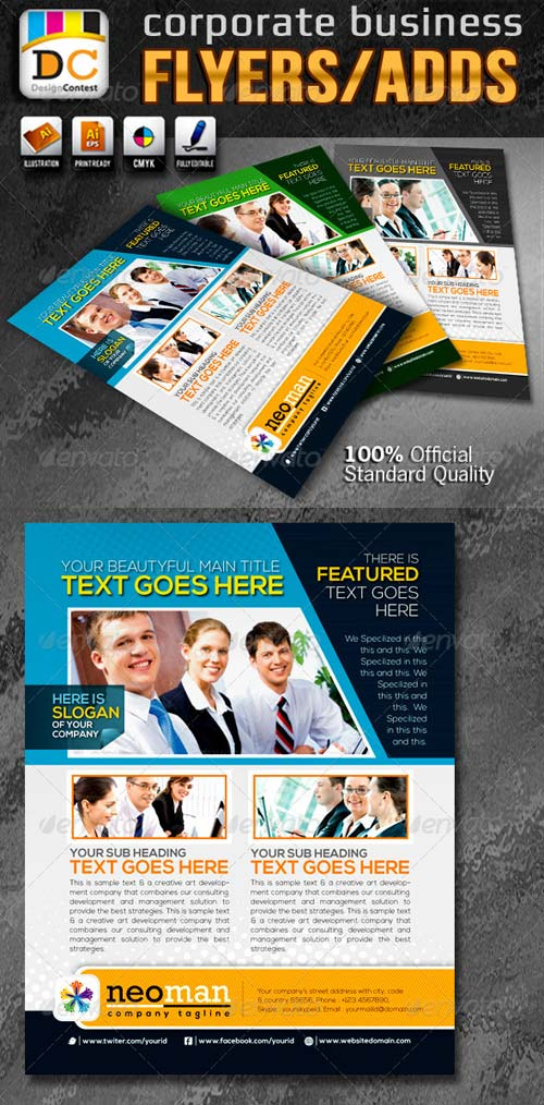 GraphicRiver Neo Man Corporate Business Flyers/Adds