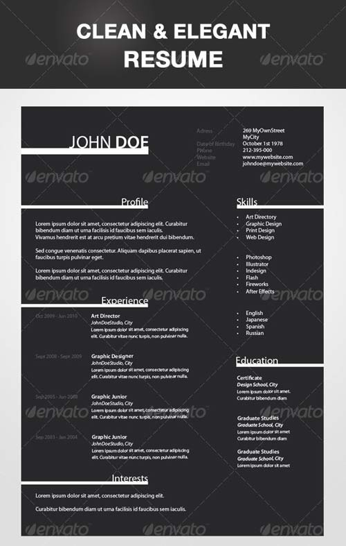 GraphicRiver Clean and Elegant Resume