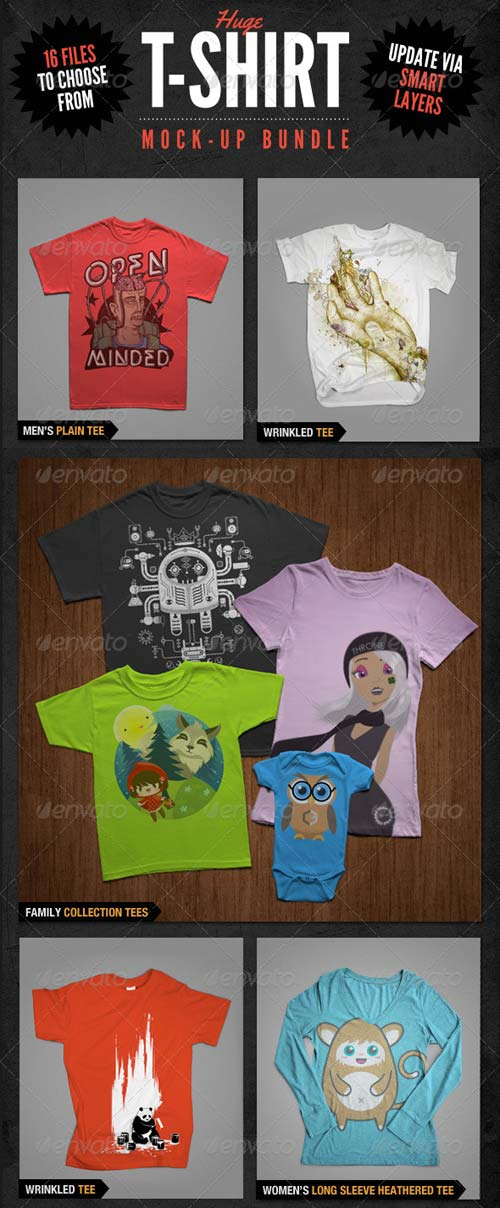 GraphicRiver T-Shirt Mockups Bundle Pack
